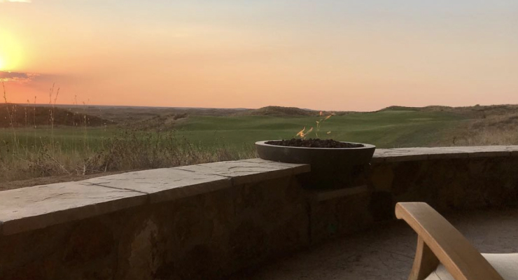 view from patio at Ballyneal cottages